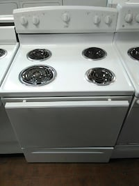 Used White Estate Electric Coil Range Oven For Sale In