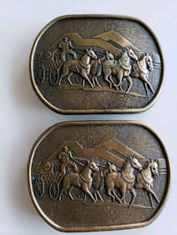 2 Vintage Gulf Oil Canada Limited Edition Buckles