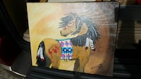 brown horse painting