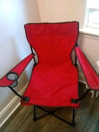 Red fold up chair with cup holder Essex, 21221