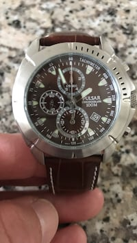 Brown and silver pulsar chronograph watch Hockessin, 19707