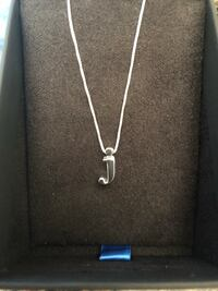Sterling Silver Necklace Letter J / New Germantown, 20874