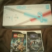 Wii Star Wars games and with 2 swords Mishawaka, 46545
