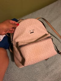 brown and gray Coach monogram crossbody bag Mulberry, 33860