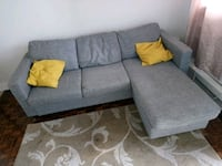 gray fabric sectional sofa with throw pillows Oshawa, L1G