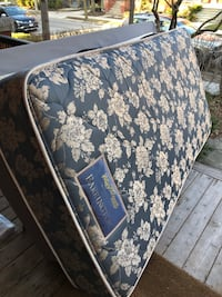 Twin mattress and ikea boxspring. On porch ready to go.  Toronto, M6G 2L2