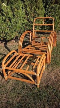 1950's Rattan Chair and Ottoman  Langley, V2Z 2A6