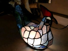 Vintage Stained Glass Chicken Beautiful Colors