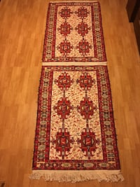 red, white, and green floral area rug Los Angeles