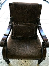 brown wooden frame  padded armchair Mission Viejo, 92692