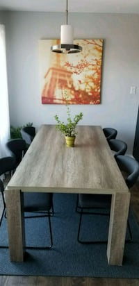 Dining Table with 6pc chairs & New Rug Lorette, R0A 0Y0