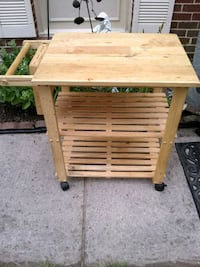 Kitchen cart with knife block and cutting board  Alexandria, 22315