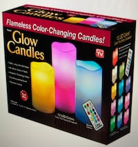 Flameless Glow Candles Color changing Candles by Remote control 3 Battery Operated LED Buffalo Grove, 60089