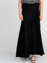Wrap Maxi Skirt Black