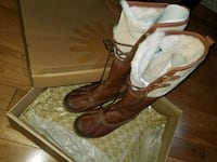 UGG Australia #8Belcloud Brown Leather Waterproof