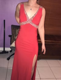 women's red and brown sleeveless dress Miami Lakes, 33016