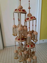 gold-colored and white beaded hanging decor Brampton, L6P 0Z9