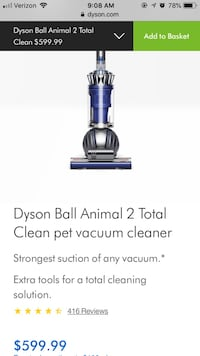 black and gray Dyson upright vacuum cleaner screenshot Temecula, 92591