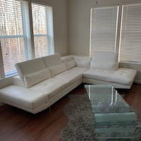 White leather sectional Hyattsville, 20785