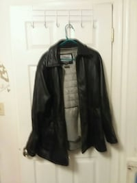 Black Wilson's leather coat  womens leather jacket  Lincoln