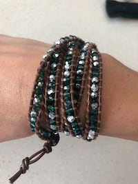 Victoria Emerson - Black and green beaded bracelet Toronto, M5A 0C7