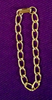 Ladies gold-coloured link bracelet
