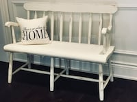 Rustic Shabby Chic Farmhouse Hall Entry~ Mudroom Deacons Bench Oakville, L6L