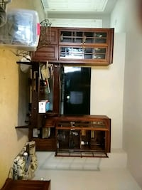 brown wooden desk with hutch Frederick, 21702