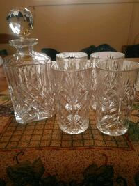 Crystal Decanter and 4 Crystal Glasses Mississauga, L5J 4C6