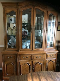 brown wooden framed glass china cabinet Herndon, 20170