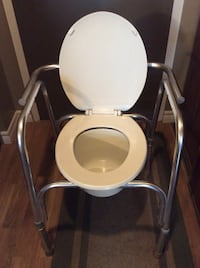 White and gray commode chair North Bay, P1B 1H3