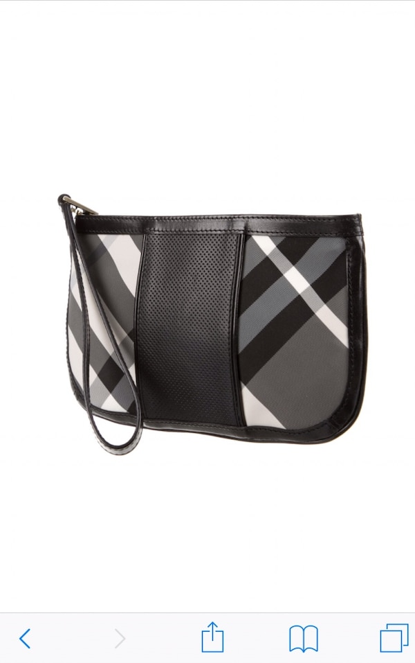 Used Burberry charcoal check wristlet for sale in Belleville - letgo b1cedef6b26f7