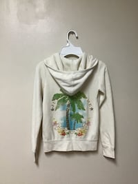 Girls JUICY COUTURE Cotton/polyester hooded zip jacket… Size-7