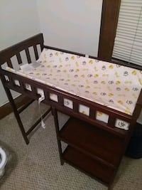 baby's brown wooden changing table Austin, 55912