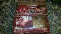 red and white bed sheet set pack 38 km