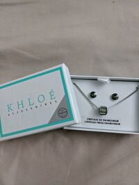 Khloé earrings and necklace Swarovski set Montreal