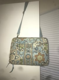 gray and brown leather crossbody bag Centreville, 20120