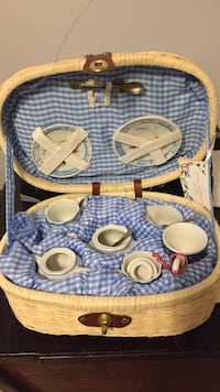 Delton collectible child's tea set in basket Pass Christian, 39571