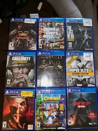 Six assorted ps4 game cases Midland, 79707