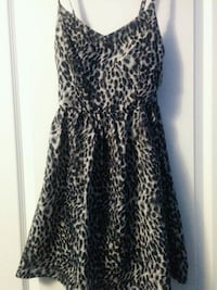 UK2LA Grey Leopard Print Dress