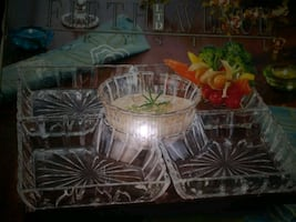 Glass party tray