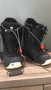 Pair of black-and-white Burton snowboard boots Kelowna