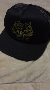 black and gray fitted cap Santa Rosa, 78593