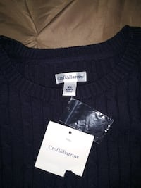 Woman's Cable Knit Sweater - Navy  Beverly, 01915
