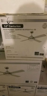 white and gray ceiling fan box Charlotte, 28262