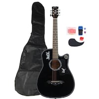 Black Acoustic Guitar New