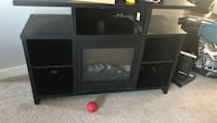 Tv stand electric fireplace that works  Edmonton, T5C