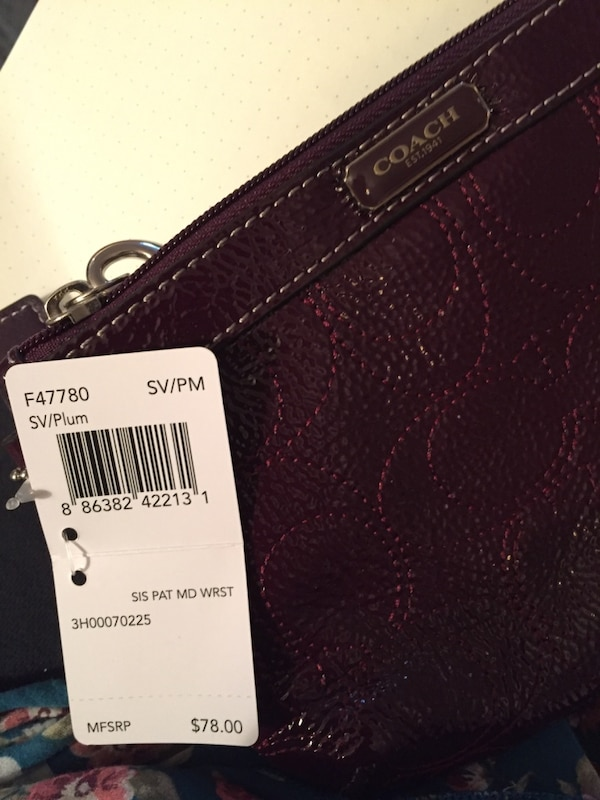 Coach Purse with tags. Price tag shown in picture.