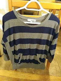 Navy blue and grey sweater shirt
