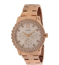 Round gold and white chronograph watch with link bracelet Ottawa